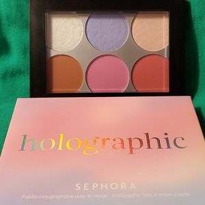 Sephora Holographic Face and Cheek Palette